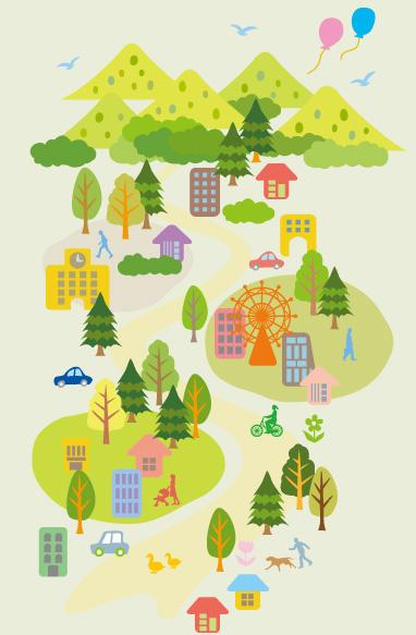 木材は人と環境に優しい資材です。